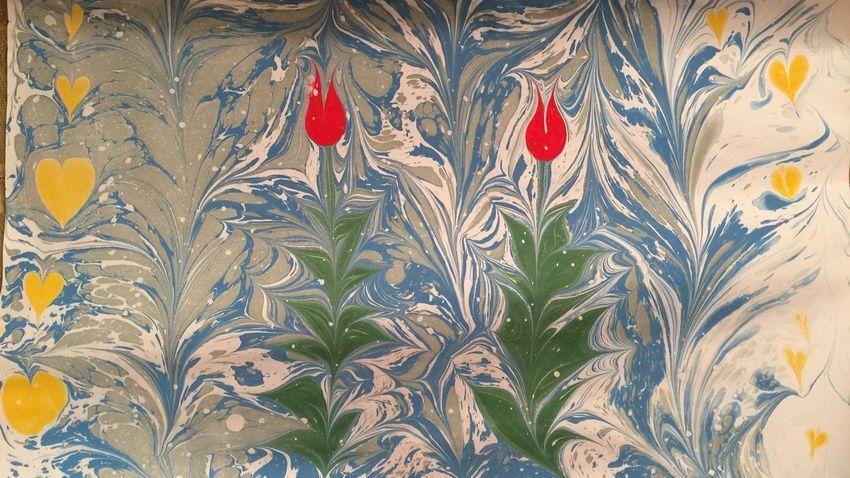 My first marbling art Marbling Art Marbling Art Backgrounds Leaf Pattern
