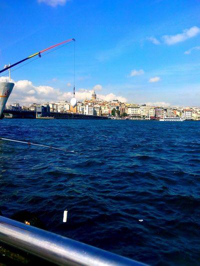 Fishing Bridge Tower Olta Galatakoprusu Galatakulesi Istanbuldaysam Boğaz Sea ı Love My City