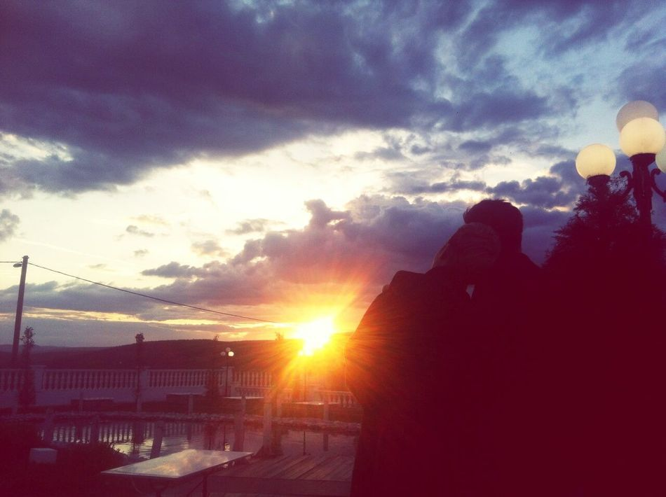 Enjoying The View Sunset Silhouettes TheLifeStory Thebestdayofmylife Withmylove