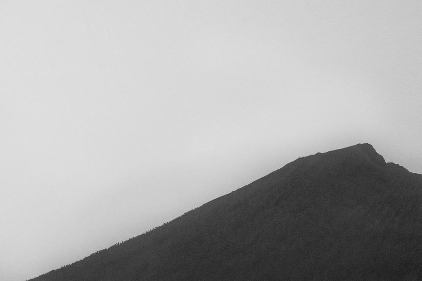 Mount Rinjani in Lombok, Indonesia Beauty In Nature Black And White Clear Sky Copy Space Day Landscape Mountain Nature No People Outdoors Physical Geography Rinjani Mountain Rinjani National Park Scenics Tranquil Scene Tranquility Volcano Crater