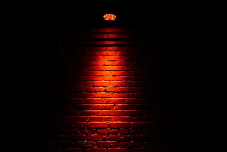 Good nights... Red No People Black Background Illuminated Night Dark Red Light Indoors  Close-up Houston Texas Eyem Best Shot 50mm F1.8 Urban Brick Wall Brickporn