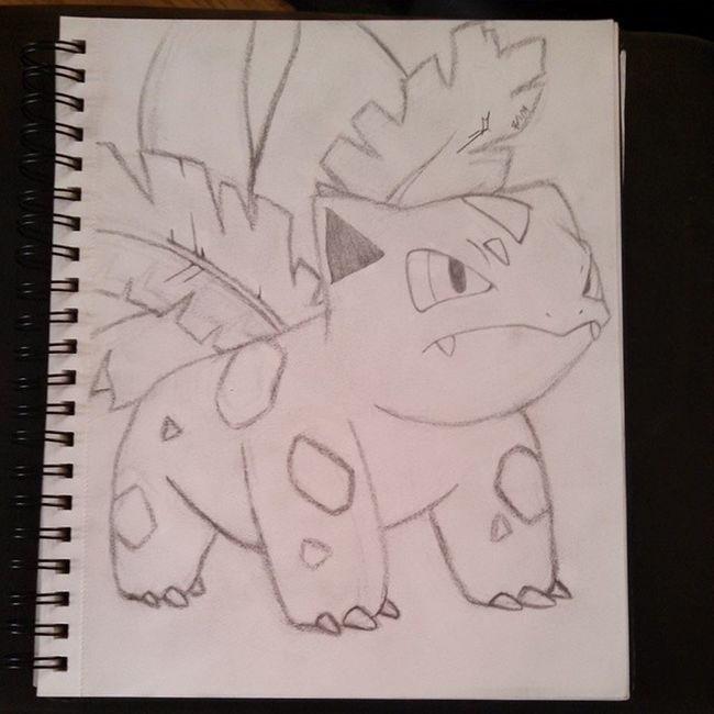 Drew this last night - ivysaur Ivysaur Pokémon Drawing Art