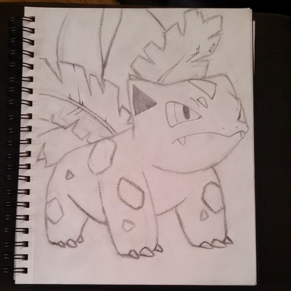 Drew this last night - ivysaur Ivysaur Pokémon Drawing Art