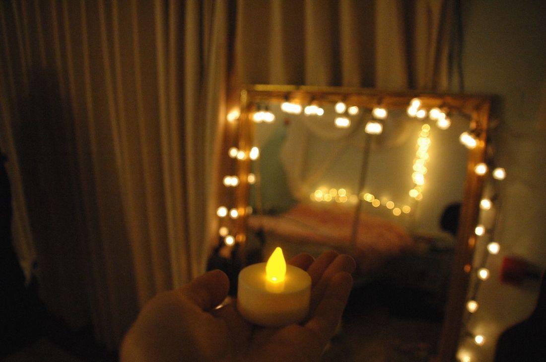 Blur Beatiful Blur Fairy Lights Fairylights Cute Candle Mirror Shertogenbosch