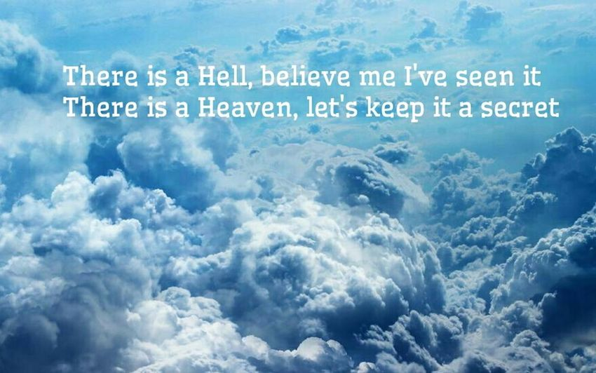 Bmth Bring Me The Horizon There Is A Hell Believe Me I've Seen IT Heaven Secret