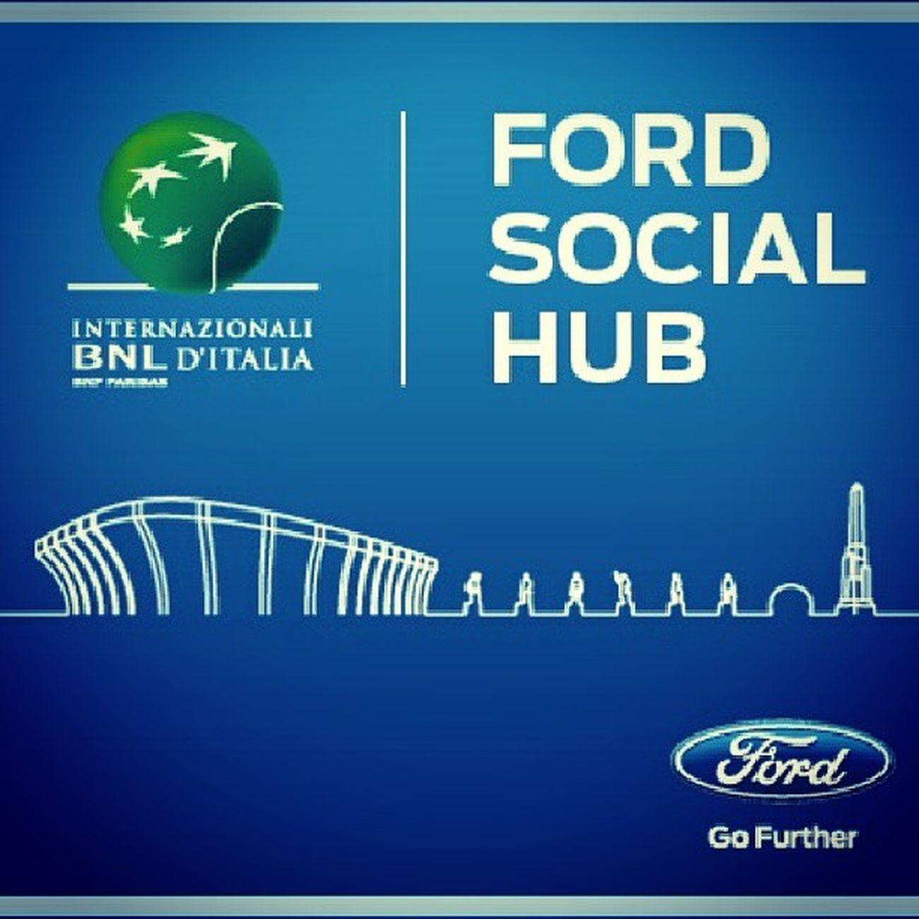 FordSocialHub ti permette seguire la diretta social degli Internazionali di Tennis BNL  2013 e di esserne il protagonista grazie agli HASHTAG Ibi13 e Kugadrive