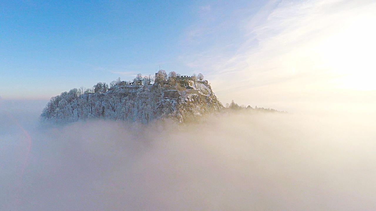 Nebel Dust Nature Mountains Dronephotography Exploring Hegau Germany Traveling
