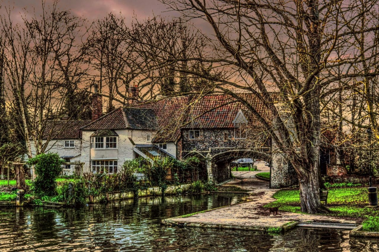 Pulls Ferry Norwich Built In 15th Century But Road Leading To It Is 12th Century Nikon D3300 Somethingdifferent Down By The River Experimental Edit Winter Sky From My Point Of View