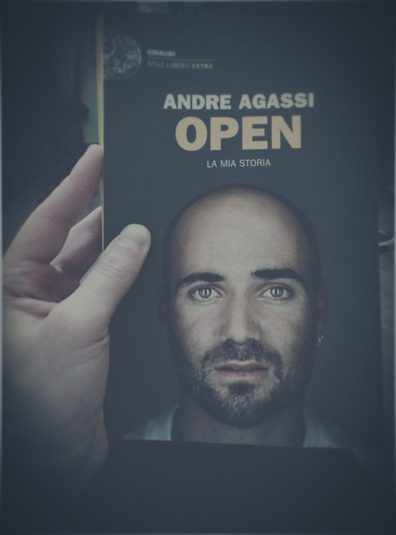 "Reading the book of one of my biggest idols. My favorite tennis player: ""Andre Agassi"" ? ? Book Tennis Lovetennis Andreagassi Idol Myidol Tennis 🎾 Open"
