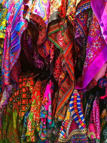 A lot of cloth. Multi Colored Full Frame Close-up No People Indoors  Day Tradition Textile Bangkok Thailand