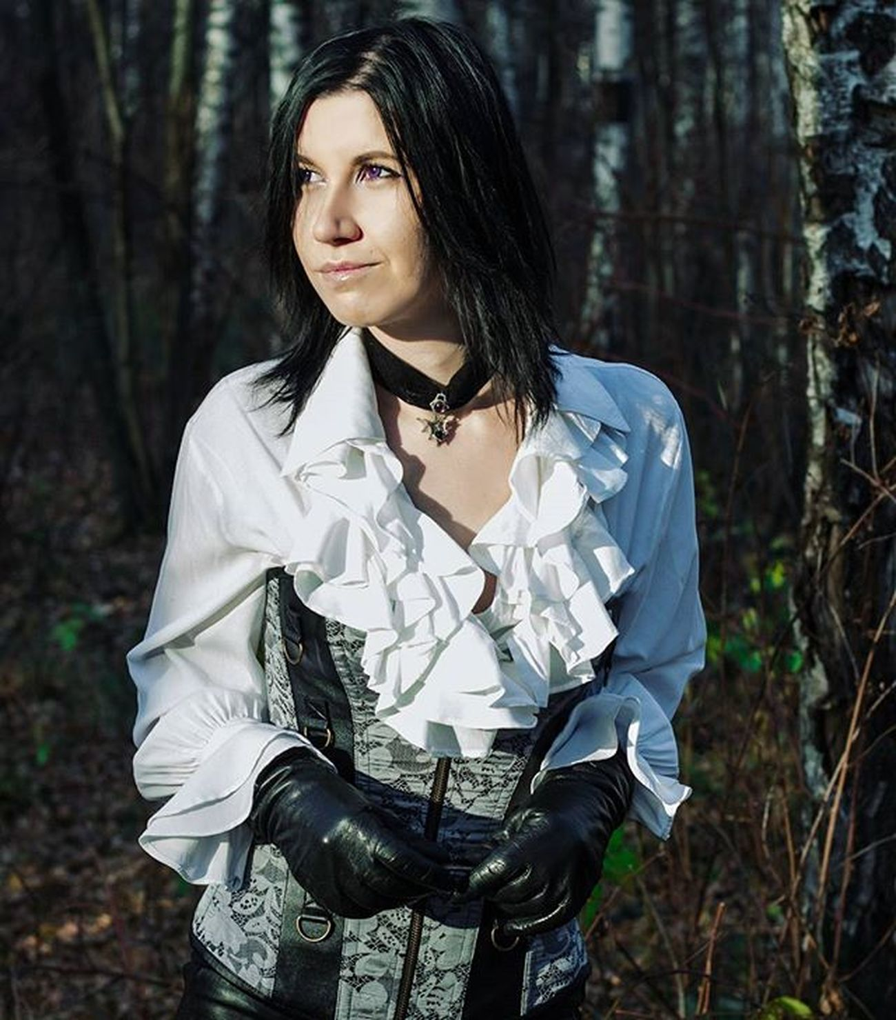 Girl GothicStyle Gothic Gothicgirl жабо блузка Blackandwhiteclothes Blackandwhite Choker Blackhair Violeteyes Noir Smile Beautifuleyes Beautifulgirl Magicgirl Magicclothes Nicedress Corset Autumn Russiangirl Moscow перчатки Follower Likeback like4like followme лосиныйостров punkrave alchemygothic