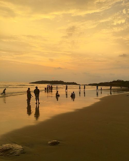 Beach Sea Kerala Kerala India Kovalam India Indian Culture  KovalamBeach керала Ковалам Индия ИндийскиеМотивы пляж Закат