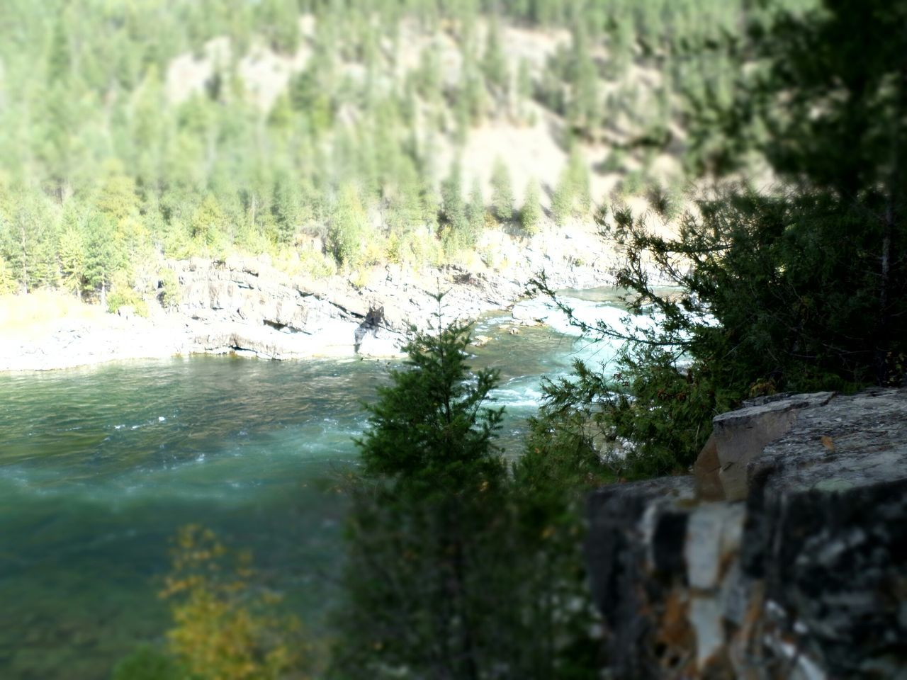Kootenay Falls Water On A Cliff