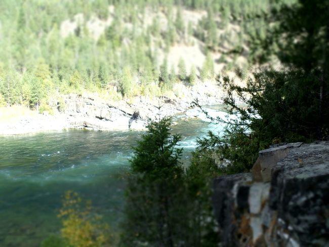 Kootenay Falls Water On A Cliff