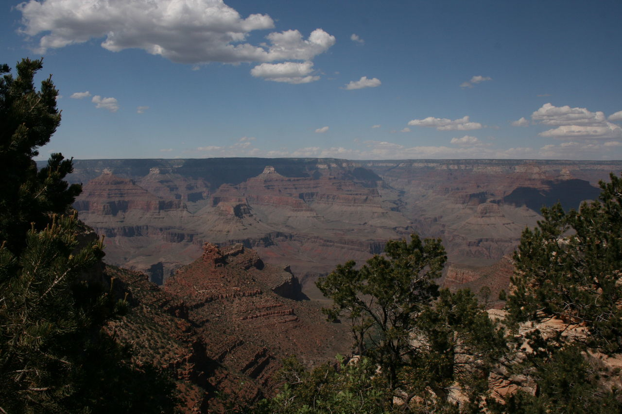 Scenic View Of Dramatic Landscape Against Sky At Grand Canyon National Park