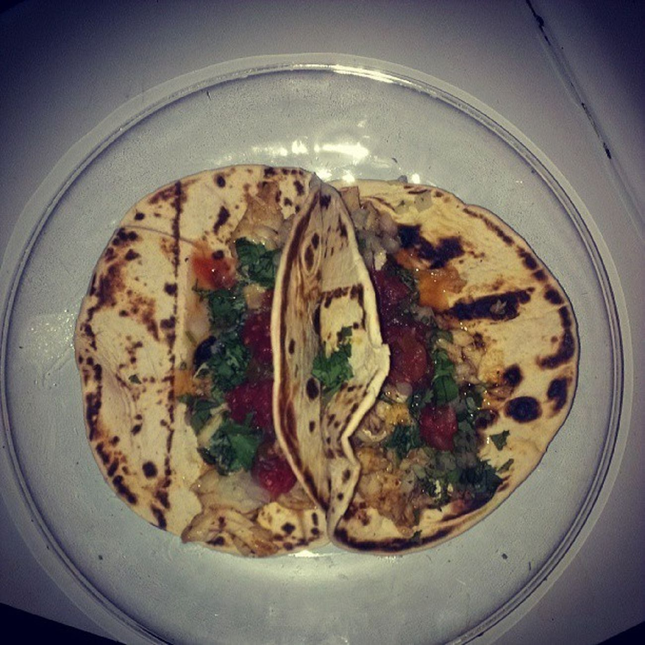 Cod tacos with cilantro, raw onion and tomato salsa. BaccOnMyBS ChefClicc Nocompetition