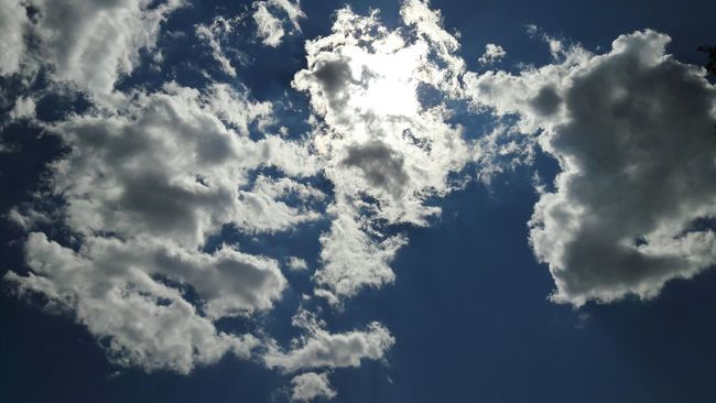 Sky Blue Clouds Sun Blue Sky