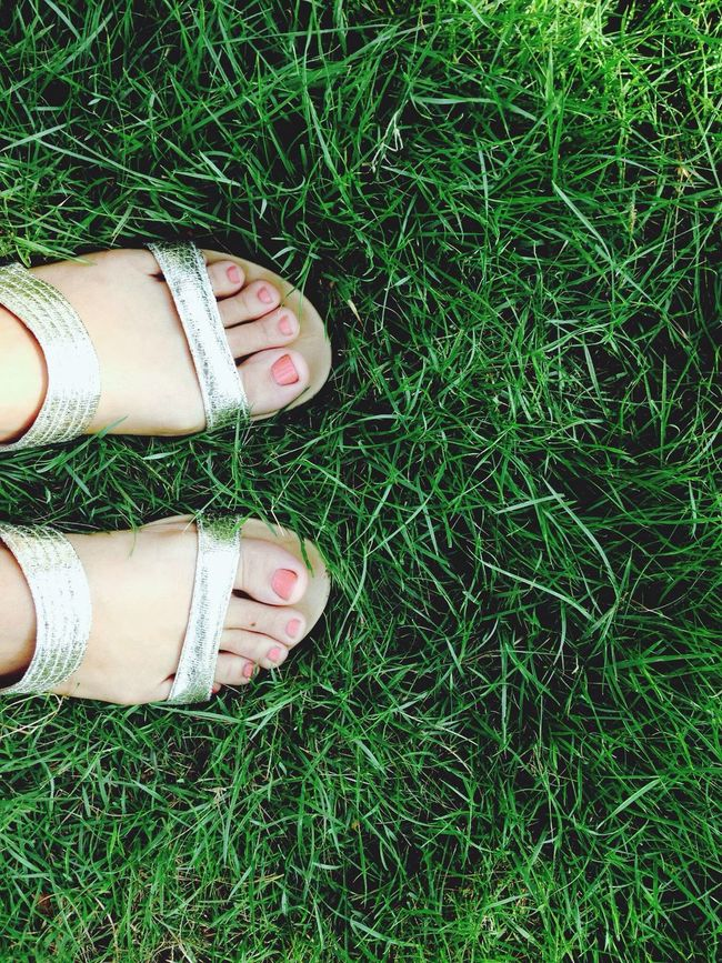 Green grass with my Beautiful Shoes - Nature