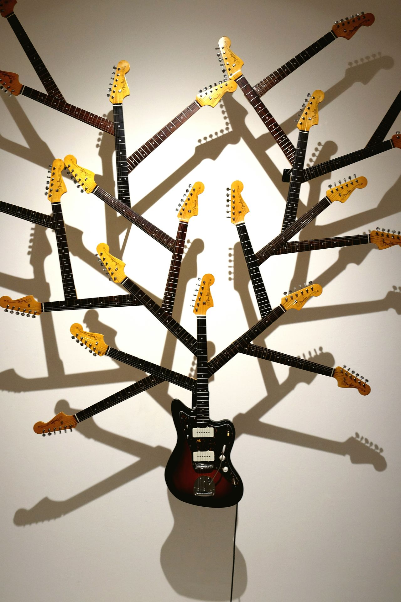 No People Symmetry Guitar Electric Guitar Branches Tree Art Art Piece Artistic