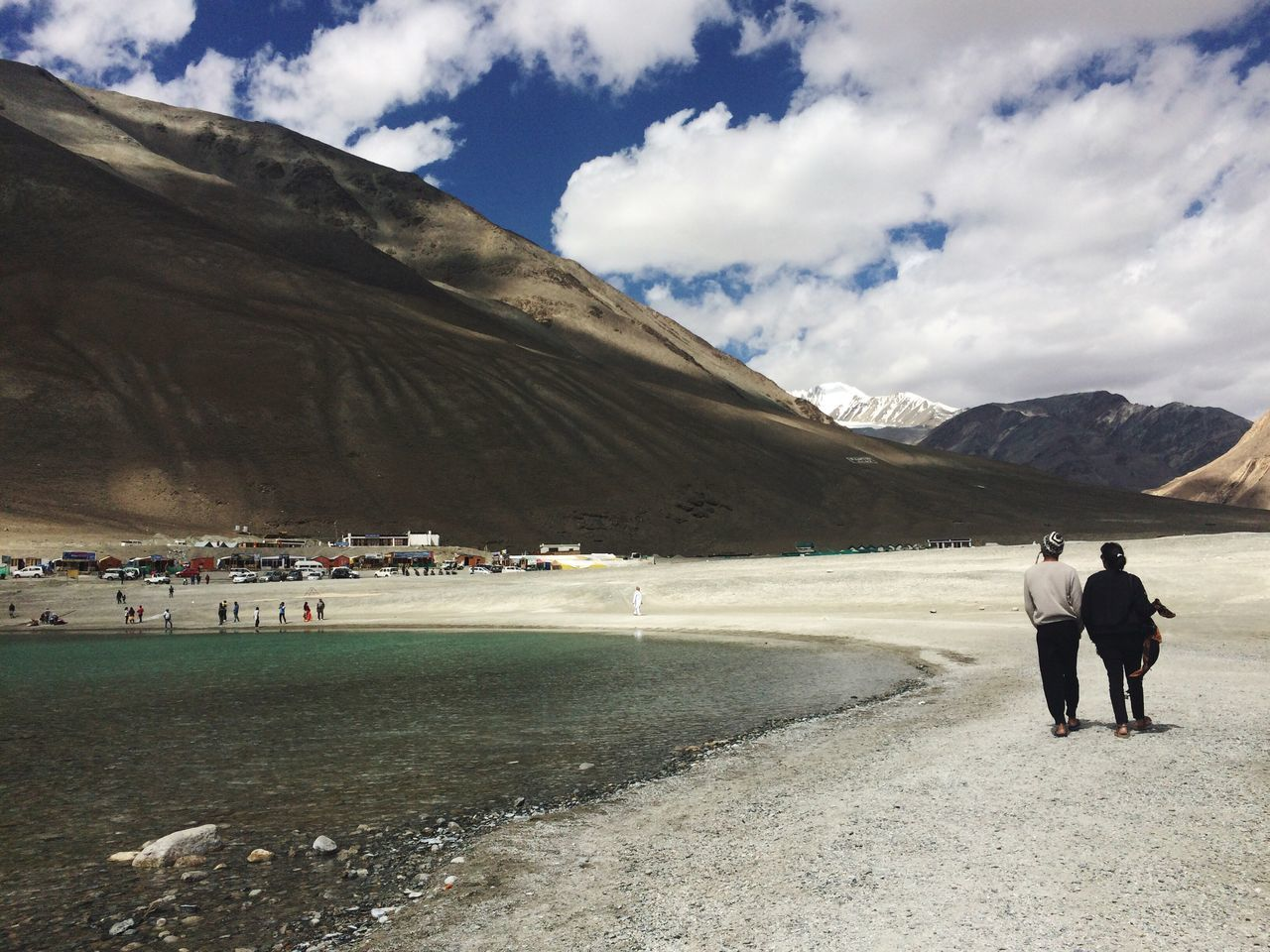 Walk by the Pangong Tso Lake Couple Couplegoals Pangonglake Pangong Brother & Sister Lake Leh Ladakh India Indiaborderside Indiaborder China Tibet