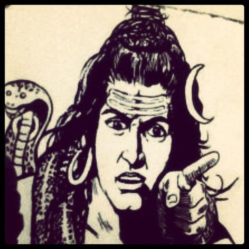 India LordShiva Shiva Somebodygonnagetahurtrealbad indianmythology art youyesyou imwatchingu