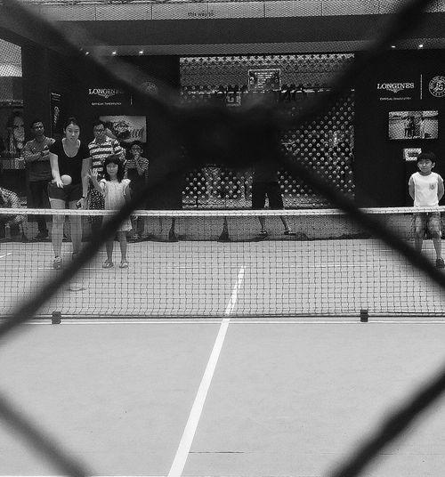 Kid's Play Tennis Agassi Foundation Agassi Longines Streetphotography Capture The Moment Bnw Bnwphotography Bnw_collection Bnw_captures Bnw_worldwide EyeEm Bnw EyeEm Gallery Eyeem Photography Singapore
