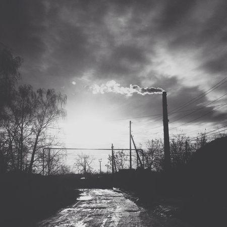Blackandwhite Photo Nature Sky