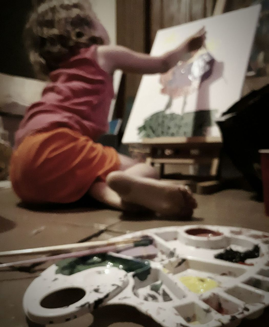 Breathing Space One Person Indoors  People Child Playing Sitting Childhood Parenting In The 21st Century Painting Create Art Budding Artists