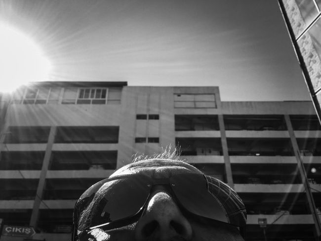 Battle Of The Cities Sunshine Sunglasses Carpark EyeEm Best Shots Eye4photography  EyeEm Gallery EyeEm Best Edits Blackandwhite Black & White Lens Flare Depth Of Field IPhoneography Portrait Urbanphotography Streetphotography Eminönü/ İstanbul People And Places TakeoverContrast Dramatic Angles Monochrome Photography