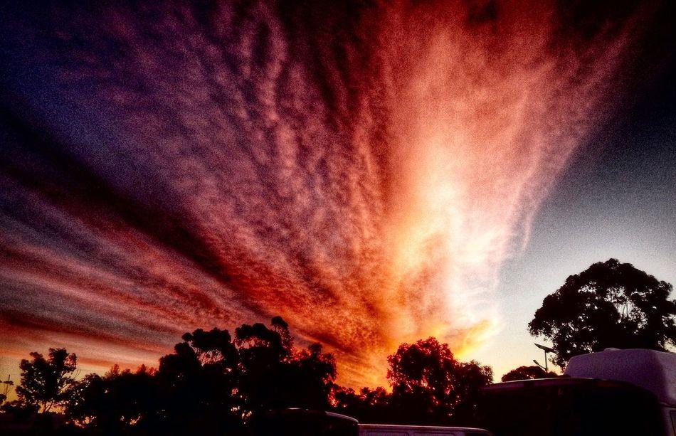 Sunset Sunset Silhouettes Amazing Camping Colours Cloudporn Beautiful Beautiful Nature Kulin WesternAustralia The Great Outdoors – 2016 EyeEm Awards On The Way