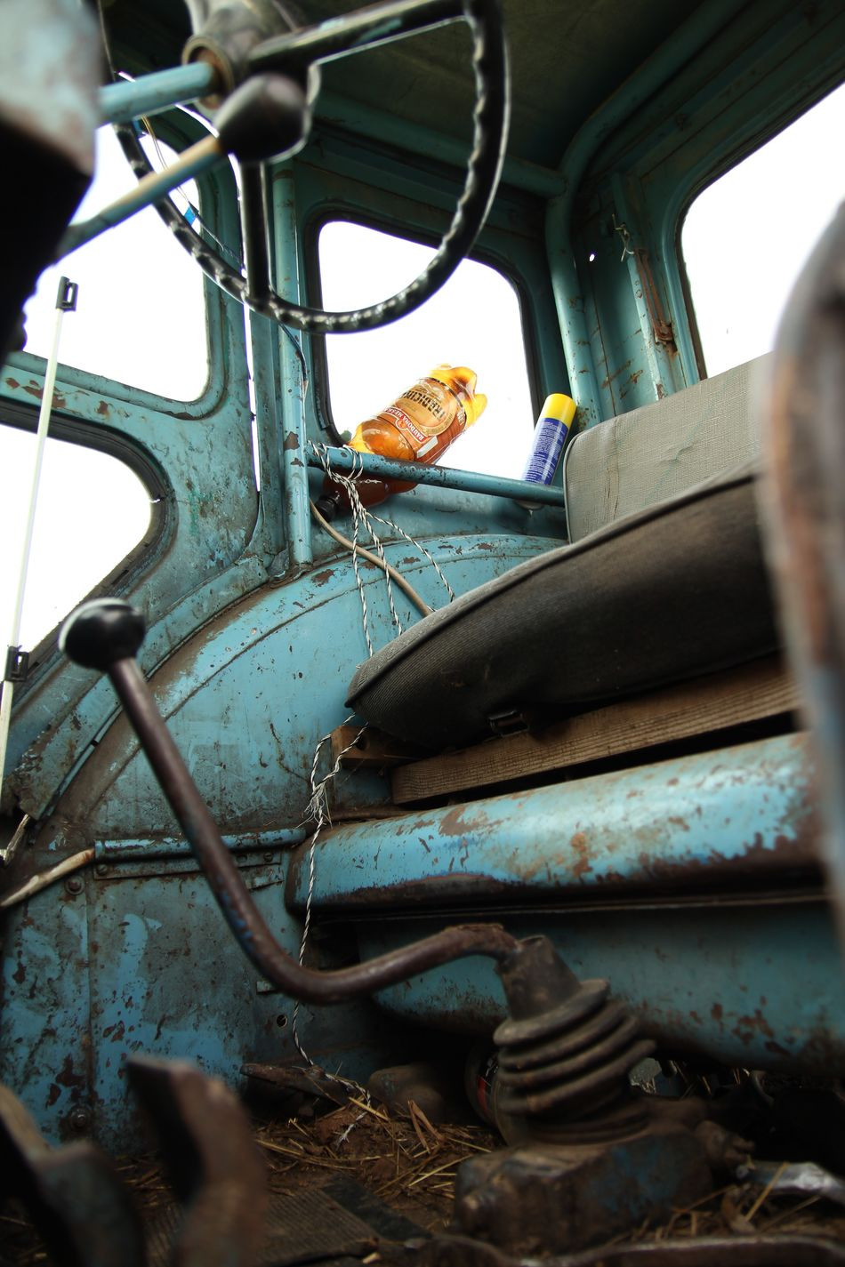 Belarus Tractor Blue Blue Tractor Dirty Dirty Cabin Land Vehicle Machinery Old Tractor Old Tractors Old Wheel Wheel