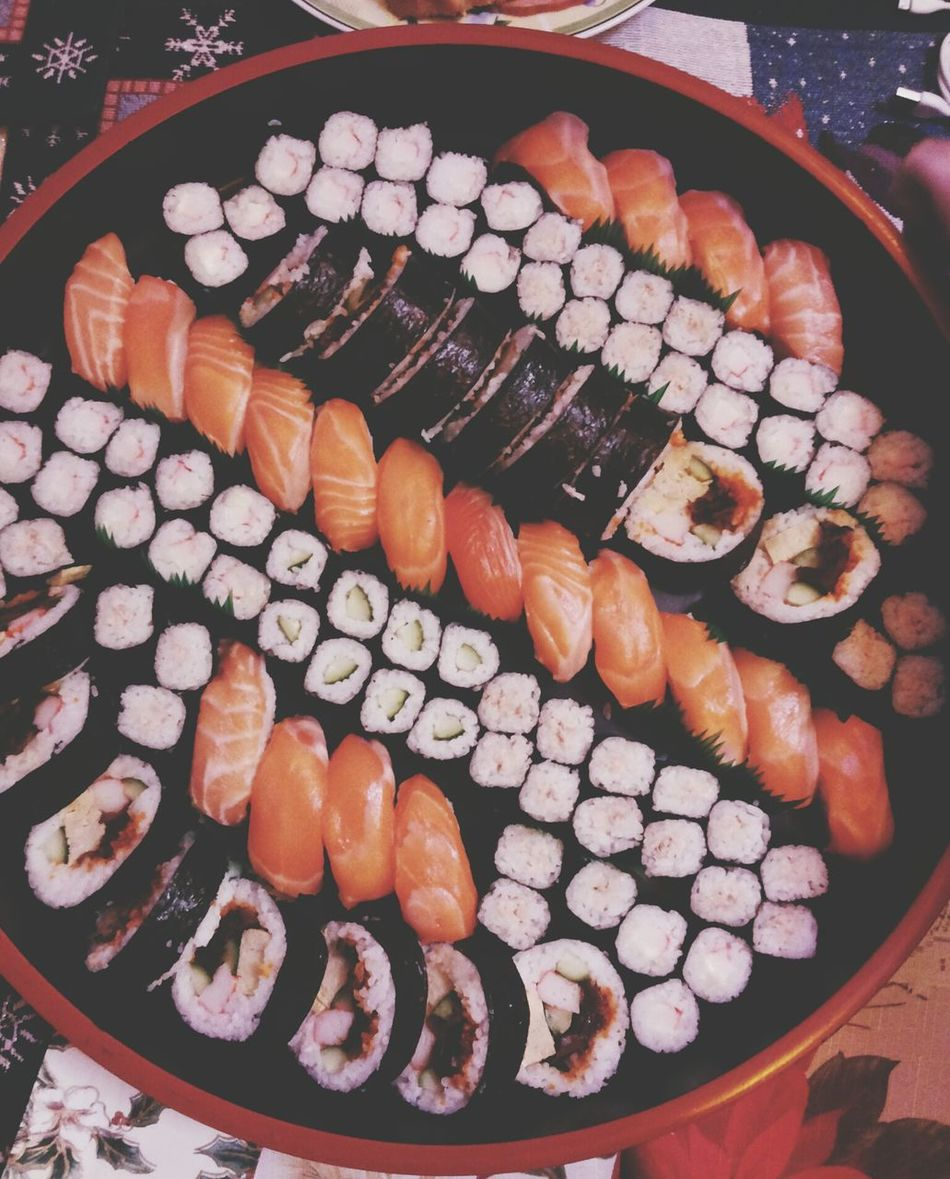 Food And Drink Freshness Arrangement Sushi Variation Food Ready-to-eat Christmas Throwback Party Food Porn MerryChritsmas WOW Millennial Pink