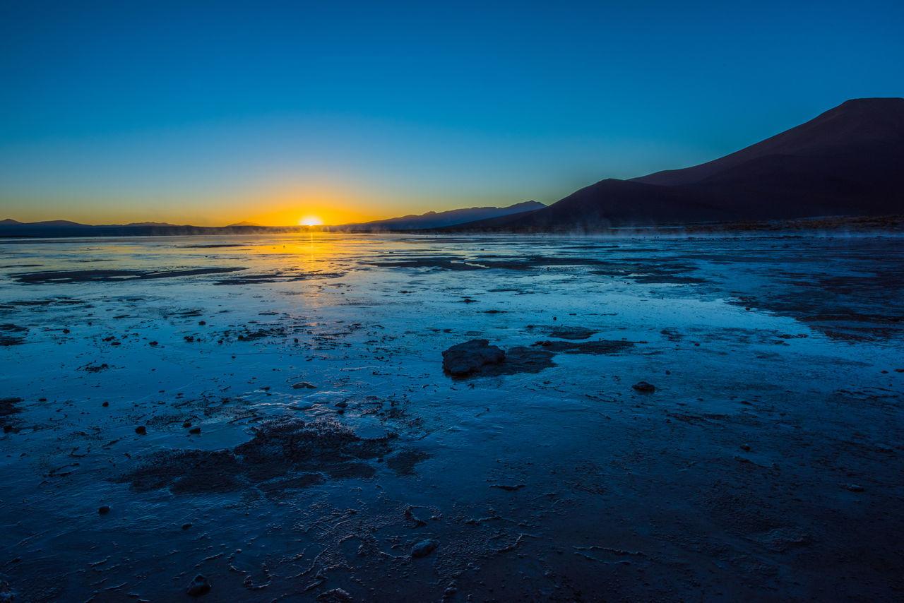 Bolivia Bolivia Uyuni Salt Flat Sunrise Uyuni