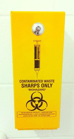 Sharps Disposal Unit Biohazard SHARPS ONLY Syringe Disposal Unit Yellow Boxes Medical Waste Black And Yellow  Yellow Yellow And Black Hypodermic Needles Contaminated Waste Hypodermic Needle Hypodermic Disposal Box Infectious Waste Yellow Box Yellow Boxes Disposal Safe Caution Caution ⚠️ Signstalkers SignSignEverywhereASign Signporn Signs, Signs, & More Signs SignsSignsAndMoreSigns Signs Signs Everywhere Signs