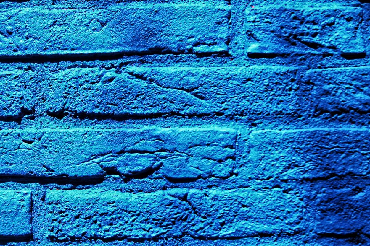 Colour Of Life Colors Blue Blue Wall Feeling Blue Blue Brick Wall Brick Wall Brick Walls Color Palette Seeing Blue Dominant Color Brick Wall Art Brick Wall Background Bricks And Mortar Bricks Architectural Detail Shadowplay Shades Of Blue Blues Color Palette Mission Finalists Neon Life Neon Life
