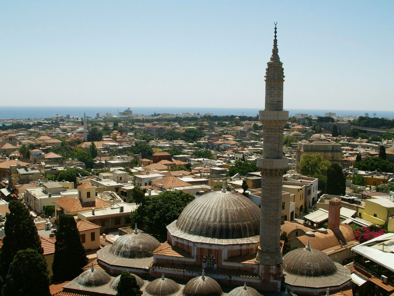 A Bird's Eye View Rhodos Minaret Greece Cityscape From The Tower Rhodos, Greece  Rodos City Rhodos City Traveling Beautyful View View