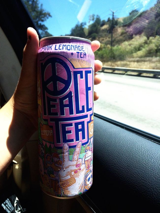 yes i enjoy Peace Tea driving to Vidcon on a nice summer day