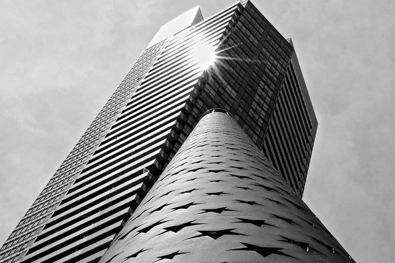 Building Architecture Building Building Exterior Built Structure City Day Low Angle View Modern Monochrome No People Outdoors Patriotism Relections Sky