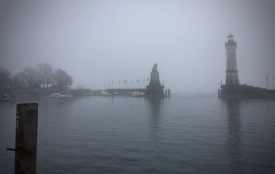 Foggy weather! Lindau Bodensee Harbour Lake Of Constance Germany Outdoors Waterfront The Places I've Been Today Beauty In Nature Taking Photos