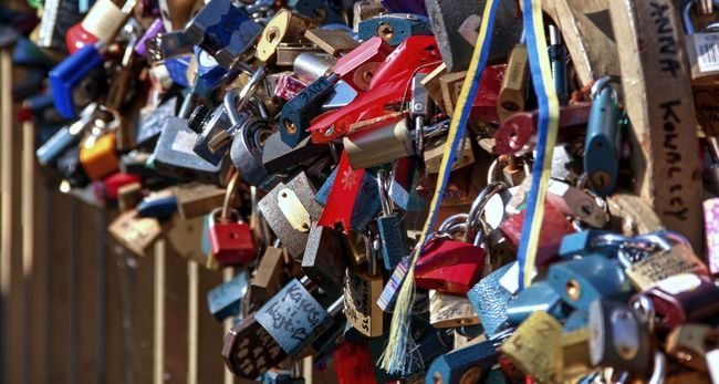 Attached Bridge - Man Made Structure City Close-up Day Hanging Hope - Concept Large Group Of Objects Lock Love Love Lock No People Outdoors Padlock Protection Railing Safety Security Togetherness Travel Trust