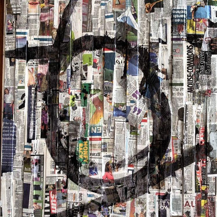 Minimalismo Collage sobre madera Arte Instragram impresionante abstrato negua