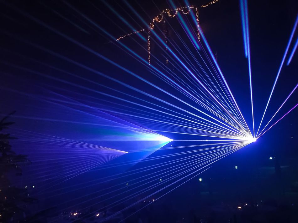 Laser Show Laser Lasershow Light NewYear New Year's Eve Technology Rays Beam Event Laser Ray Fun Club Disco Music Dance Color Technology Blue Bright Night House Edm Sylvester Electricity  Show