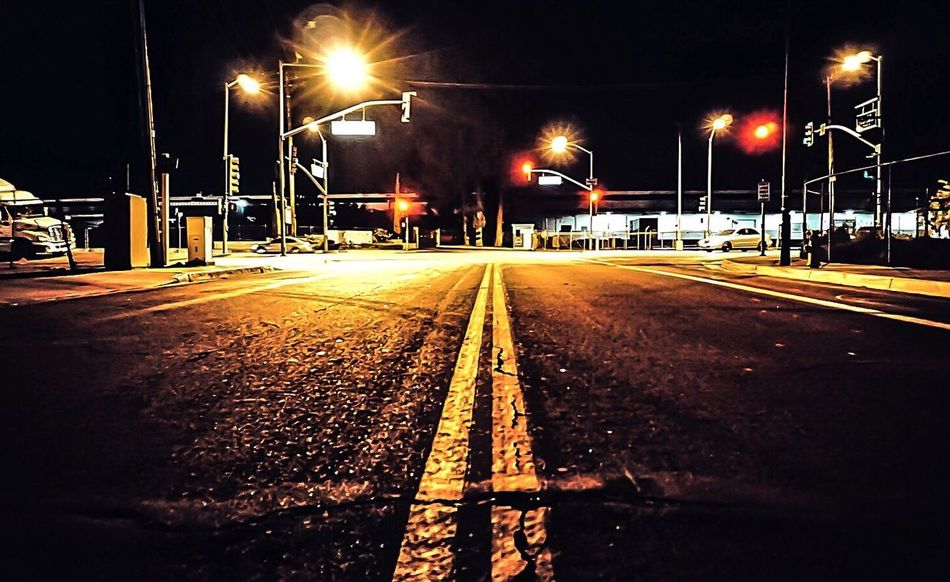 Illuminated Night Transportation Street Light No People The Way Forward Go Explore California Dreaming These Streets Children Of The Night Wanderer SoCal Eyeemphotography EyeEm Best Shots EyeEm Gallery California Love Transportation San Gabriel Valley  Sony A6000 Midnight Ride Perspective