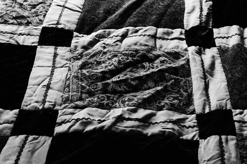 Backgrounds Blanket Close-up Day Full Frame Lifestyles Nature Outdoors Part Of Patchwork Quilt Quilted Unrecognizable Person White Home Is Where The Art Is