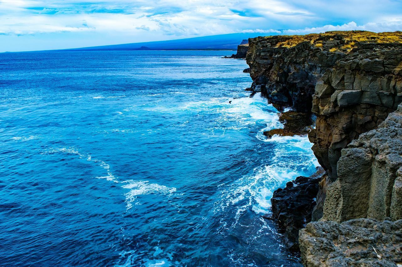 Southern coastline of the Big Island Blue Sea Water Sky Beauty In Nature Nature Scenics Power In Nature From My Point Of View Landscape_photography Landscape_Collection Landscape Photography Hawaii Big Island Big Island Hawaii Big Island Love Horizon Over Water No People Outdoors Beach Wave Day Hawaiishots