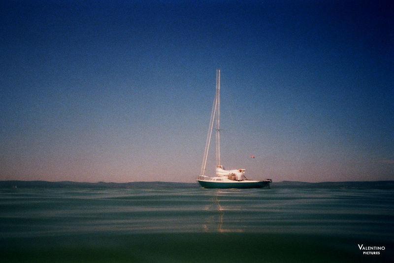 #analog #boat #grainy #hungary #impressionistphotography #kodakfilm #lakebalaton #moody #motion #photography #summer #summer2016 Clear Sky Nature Nautical Vessel Night No People Outdoors Sea Sky Water