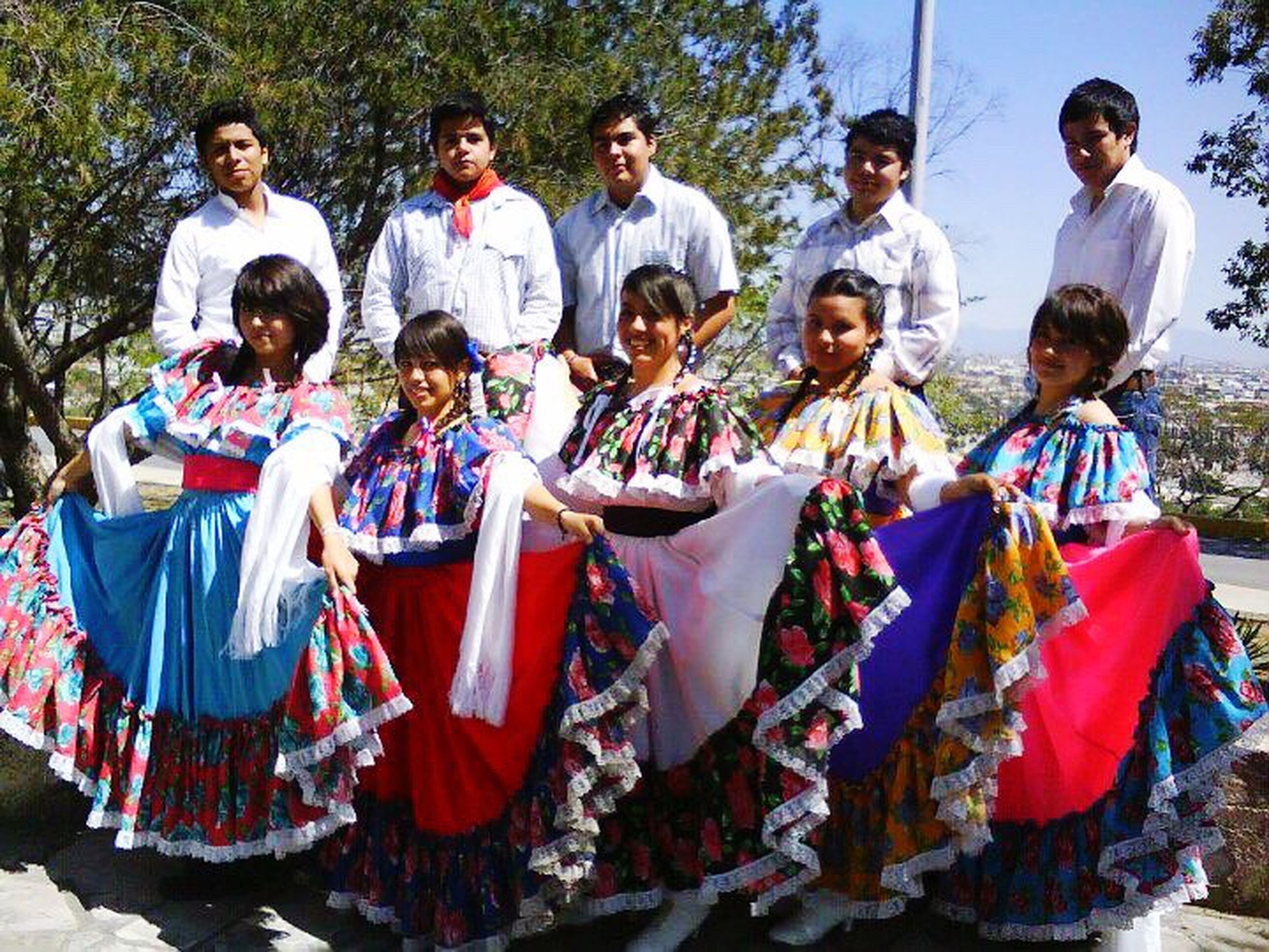 lifestyles, child, outdoors, arts culture and entertainment, traditional clothing, stage costume, full length, people, real people, men, large group of people, day, performance, adult, period costume, teamwork