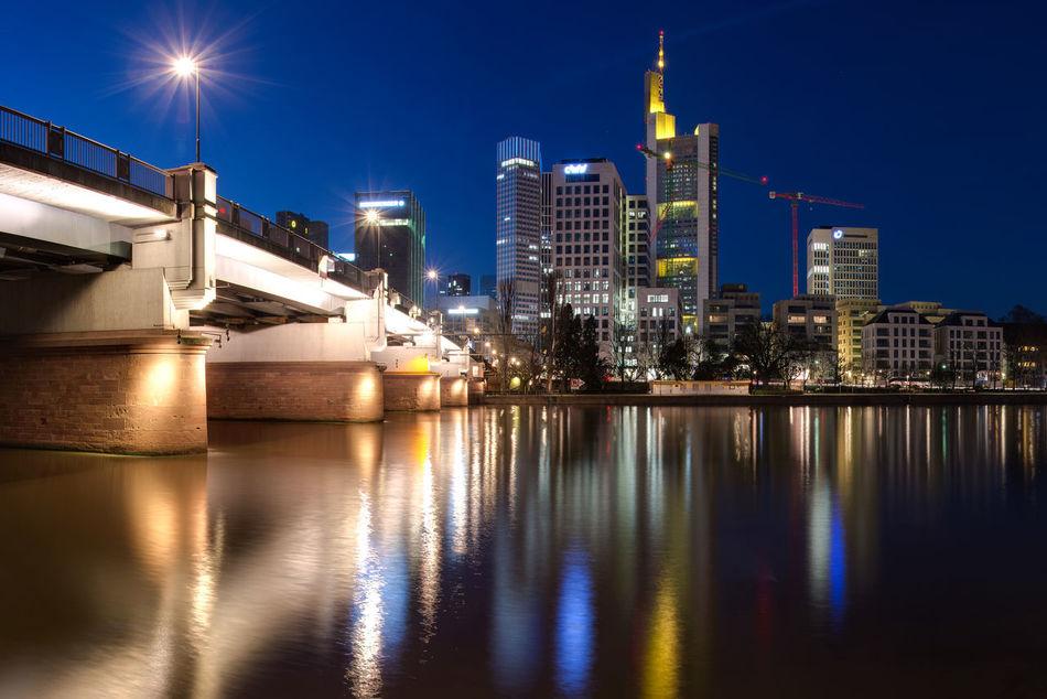 Beautiful stock photos of frankfurt, Architecture, Blue, Bridge, Building Exterior