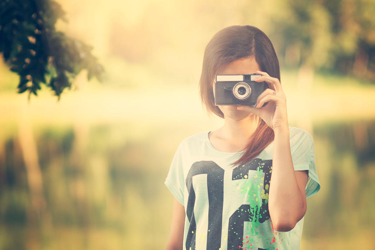 Young woman with retro camera Artist Beautiful Camera Camera - Photographic Equipment Freelancer Hobby People Photographer Photography Photoshoot Portrait Portrait Of A Woman Retro Take Picture Vintage Women Young Adult