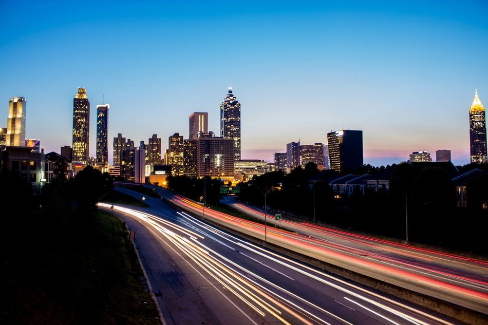 Downtown Atlanta Sunset View Architecture Cityscape Skyline Georgia ATL Atlanta Cityscapes Golden Hour Fine Art Photography Market Bestsellers July 2016 Bestsellers